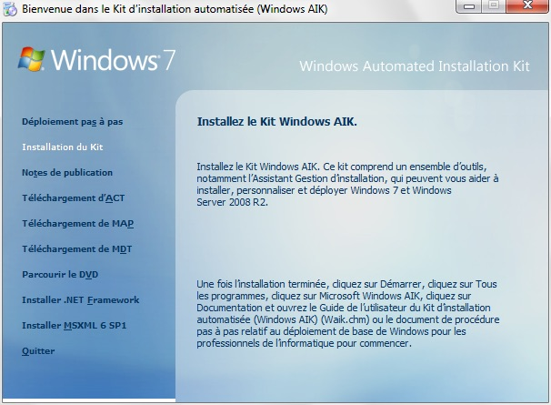 Installer Windows 10 sur une cle usb aik