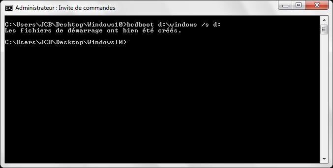Installer Windows 10 sur une cle usb demarrage complet