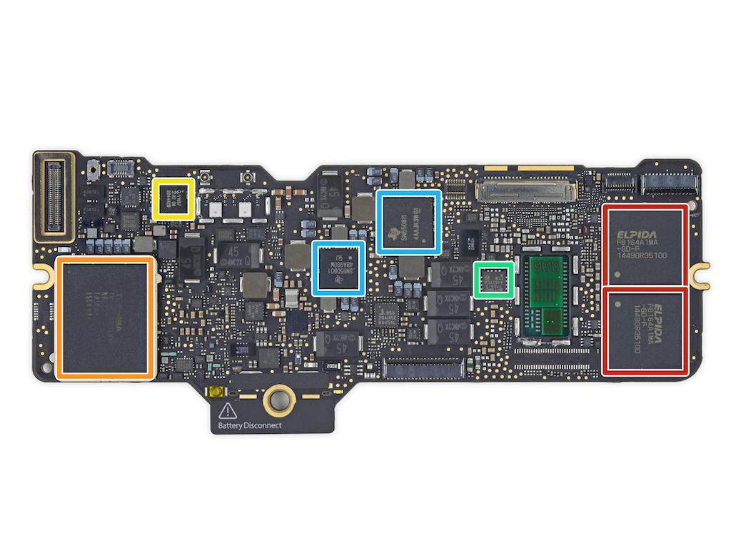 MacBook 2015 RAM et stockage flash