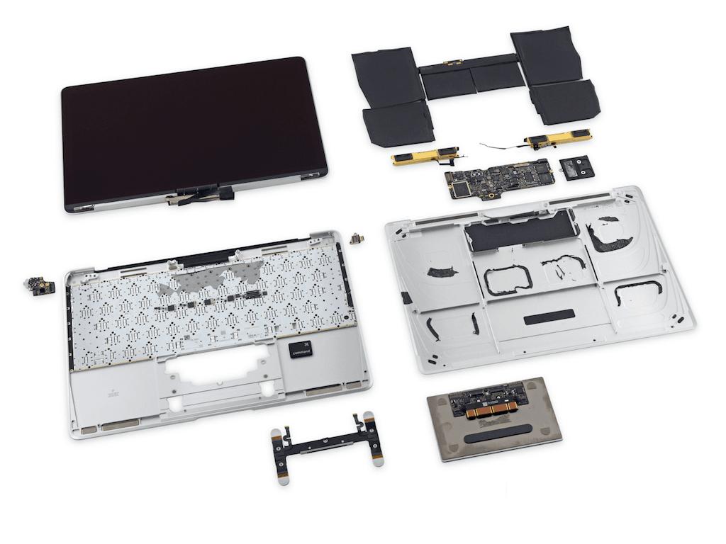 macbook 2015 retina phoo demontage complet