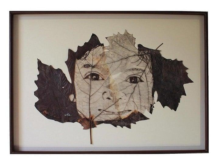 sculpture sur feuille, nervures