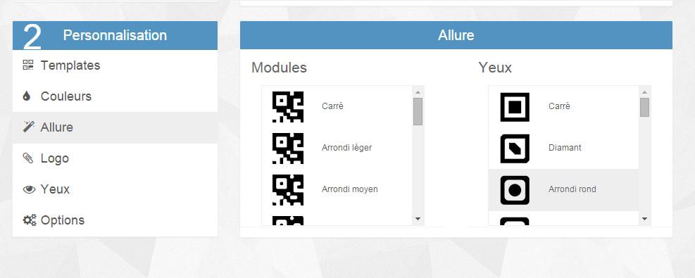 créer un QR Code, personnaliser