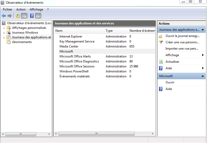 Temps de démarrage Windows : Microsoft