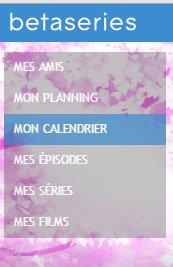 Betaseries : menu vertical