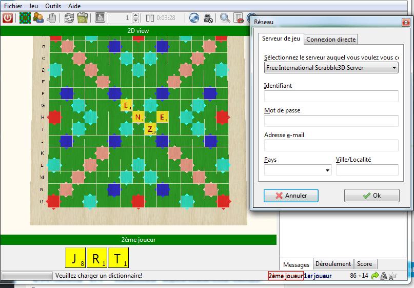 scrabble 3D : jeux en réseau