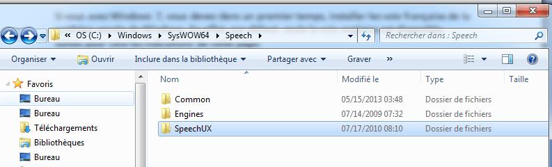 Horloge parlante Windows : speech