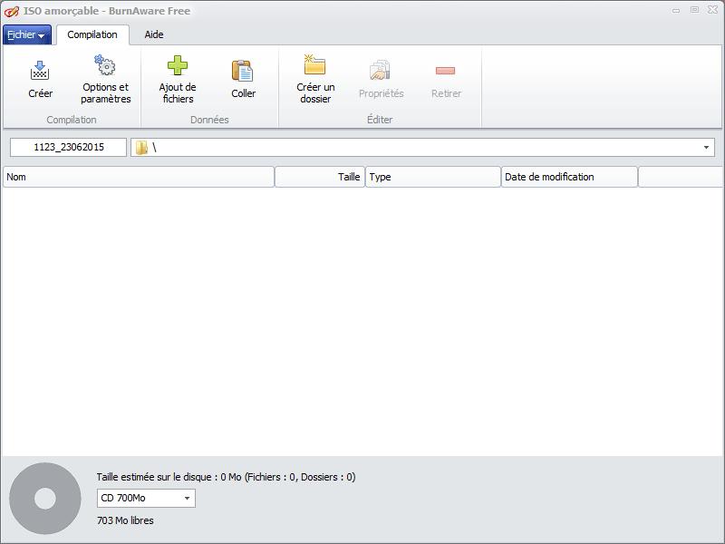 Graver sous Windows 10 iso