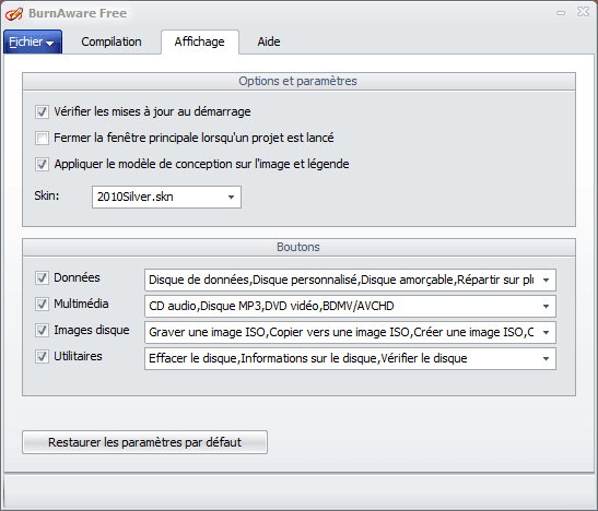 Graver sous Windows 10