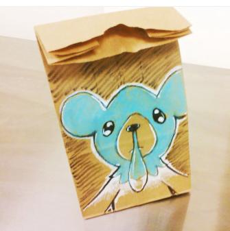 lunch bag art : cubchoo