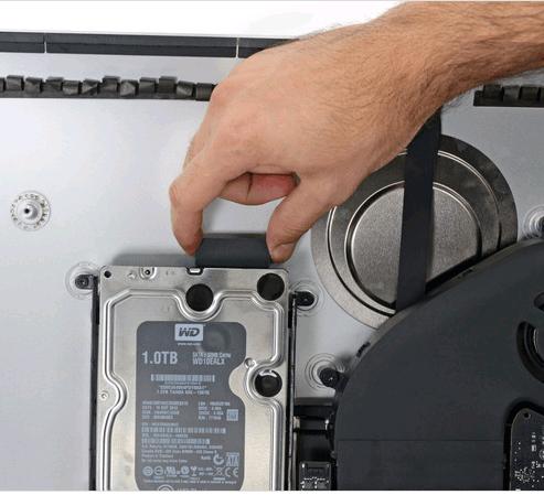 imac 27 2012 : débrancher disque dur SATA