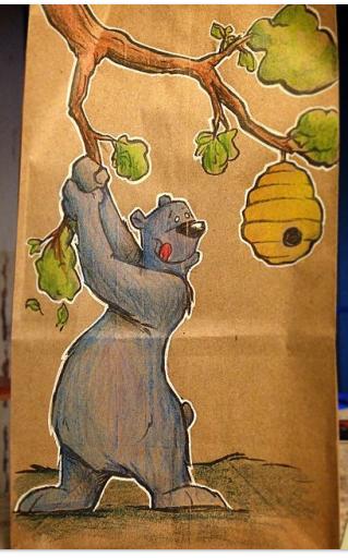 lunch bag art : moremonger
