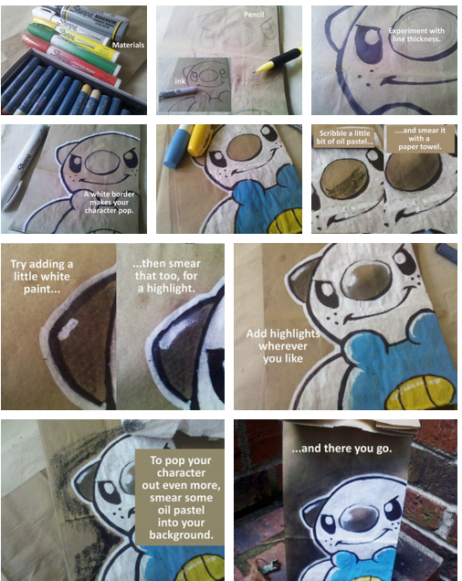 lunch bag art : tutoriel