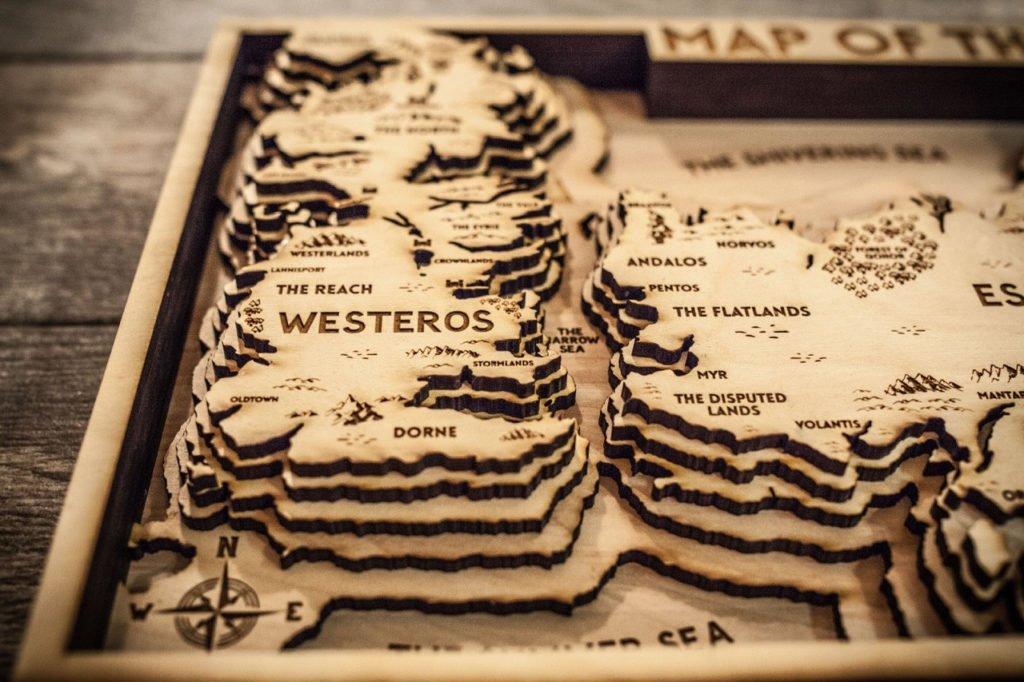 Game of Thrones carte : westeros