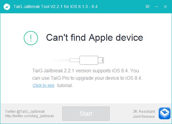 TaiG Jailbreak iOS 8.4 brancher iphone