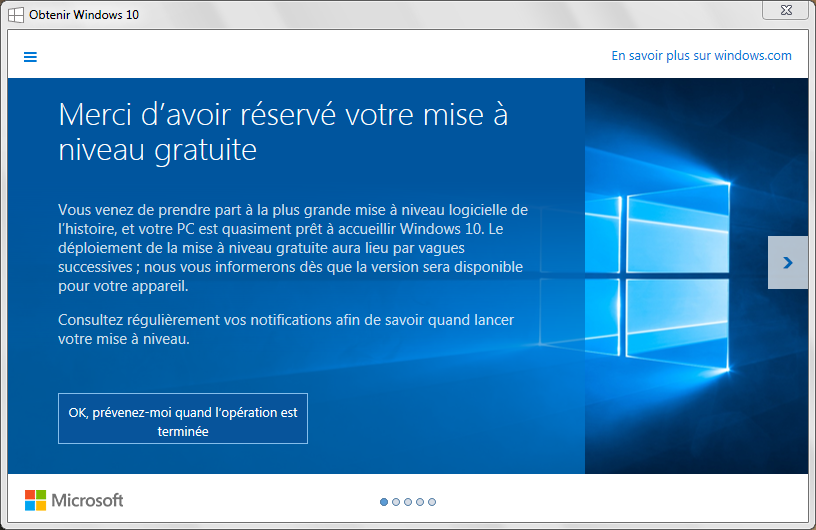 installer Windows 10 prevenez moi