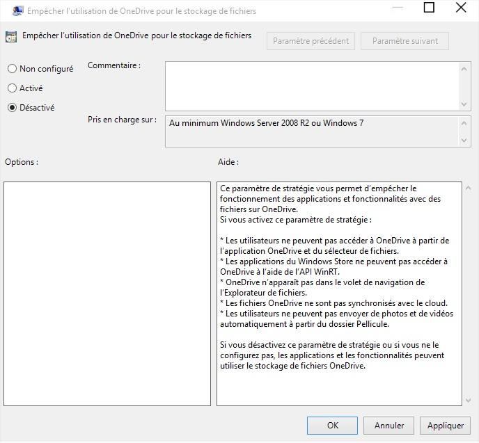 desactiver onedrive windows 10 onedrive windows 10 desactive