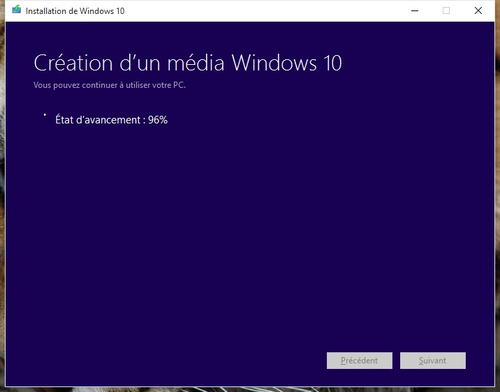 usb windows 10 creation media