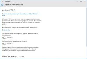 windows 10 vie privee gerer parametres wifi