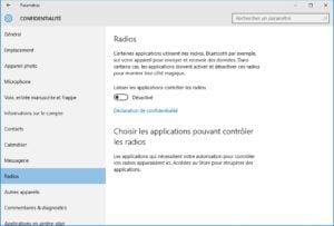 windows 10 vie privee radios