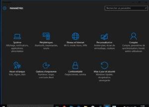 Theme sombre Windows 10 actif