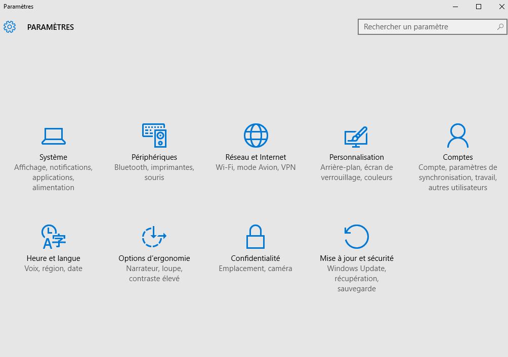 thème sombre Windows 10 inactif