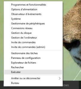theme sombre Windows 10 executer