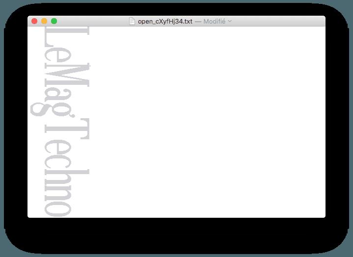 ASCII banniere mac