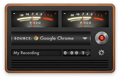 enregistrer la radio sur mac Piezzo chrome