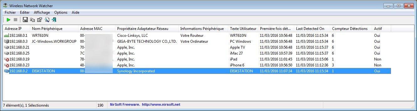 Detecter une intrusion WiFi sur mac windows linux