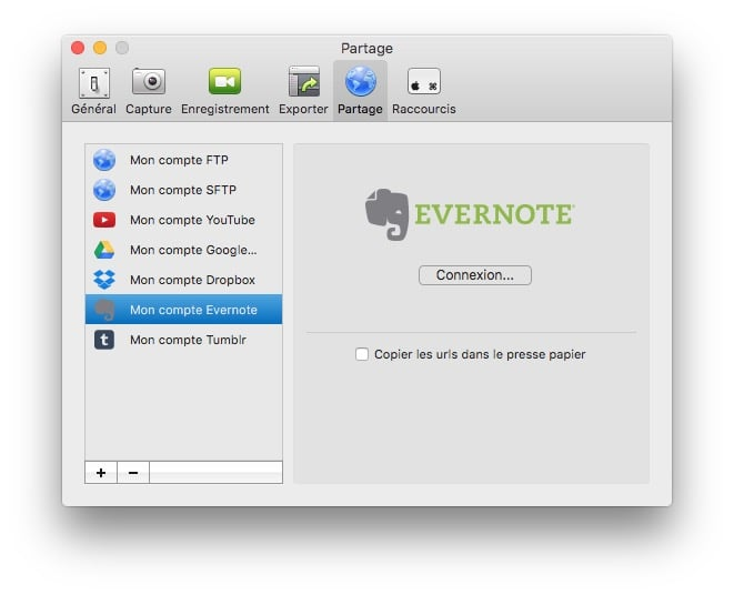 faire une capture d'ecran sur mac partage