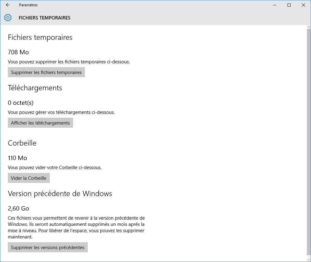 nettoyer windows 10 fichiers temporaires