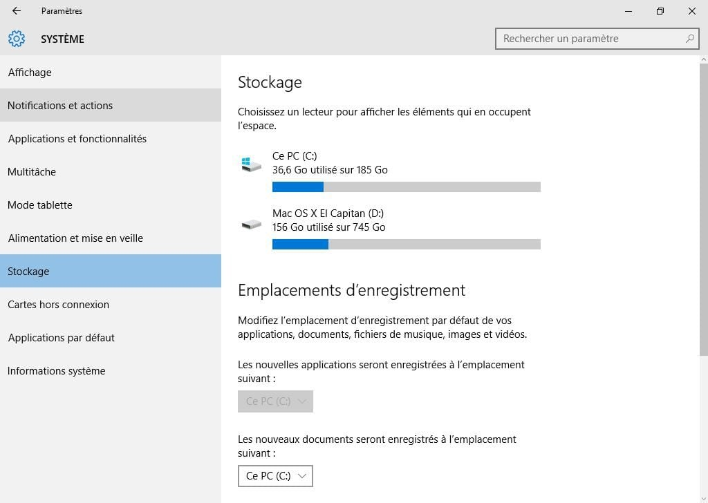 nettoyer windows 10 stockage