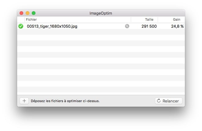 optimiser ses images sur mac imageoptim gain