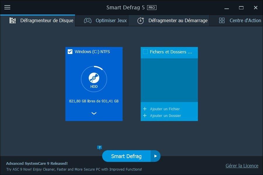 Windows 10 defragmenter disque et ssd