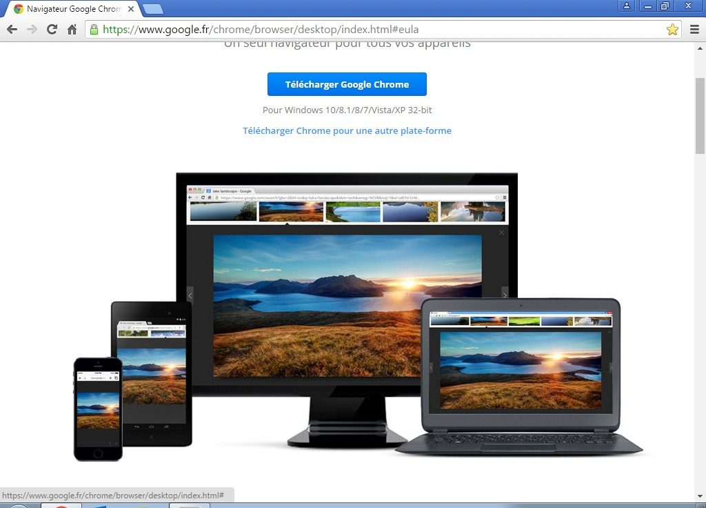 installer google chrome 64 bits autres versions