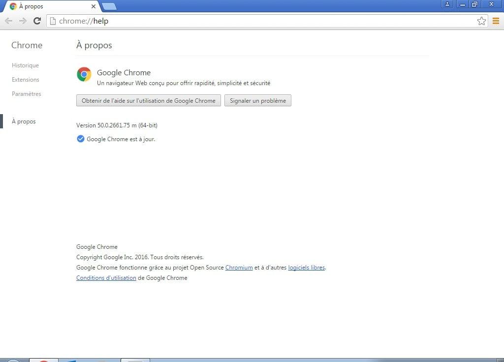 installer google chrome 64 bits version 50