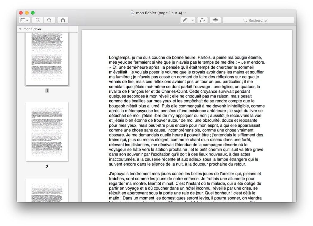 pdf sur mac modifier