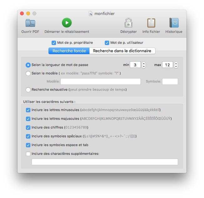 pdf sur mac recover pdf password