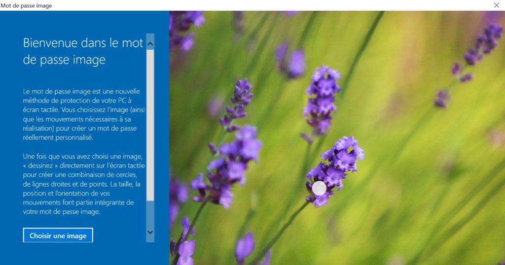 utiliser une image comme mot de passe windows 10 choisir image