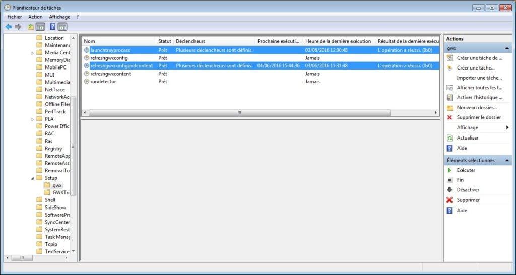 obtenir windows 10 desactiver planificateur tache