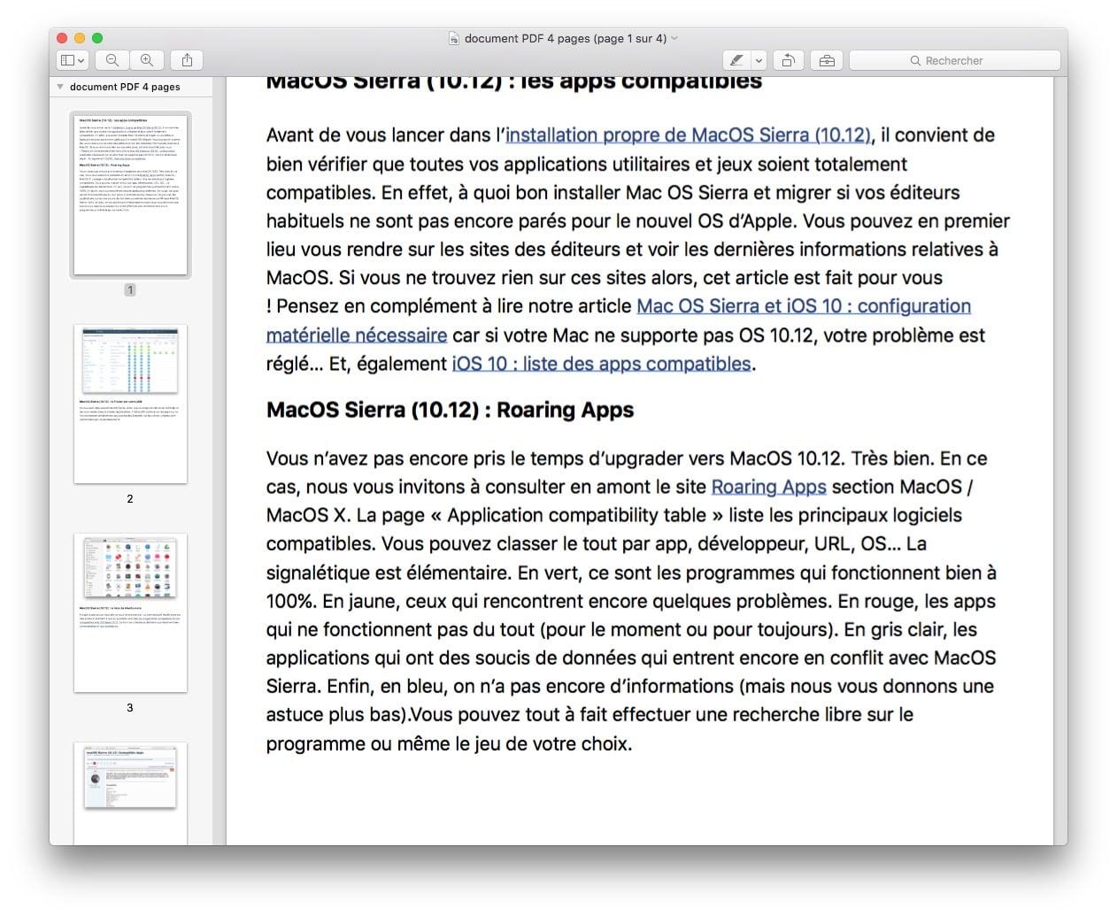 Séparer un PDF en plusieurs pages sur Mac - JCBTechno