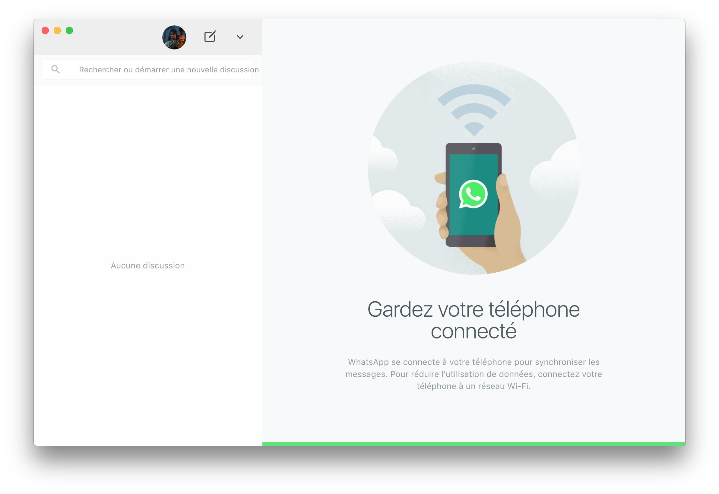 WhatsApp Mac contacts synchronises