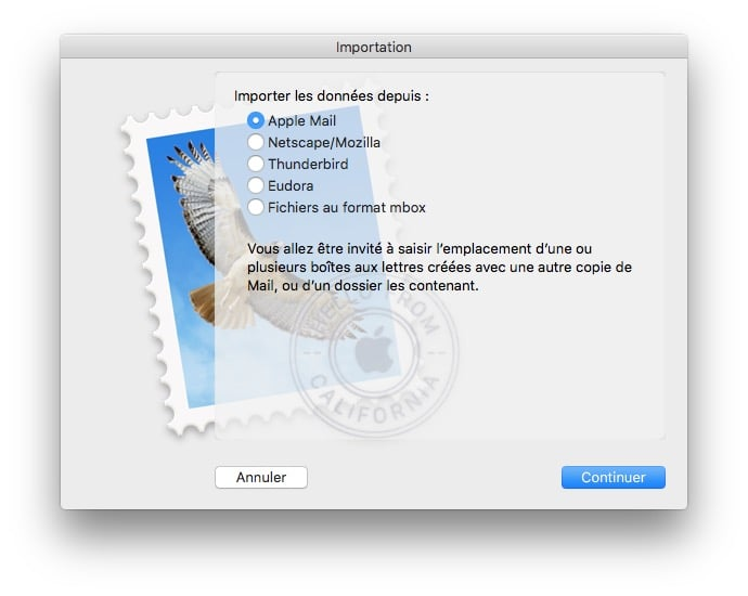 Exporter les courriers Apple Mail mbox