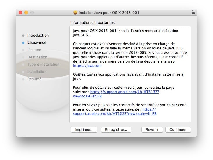 Installer java macos sierra 2015