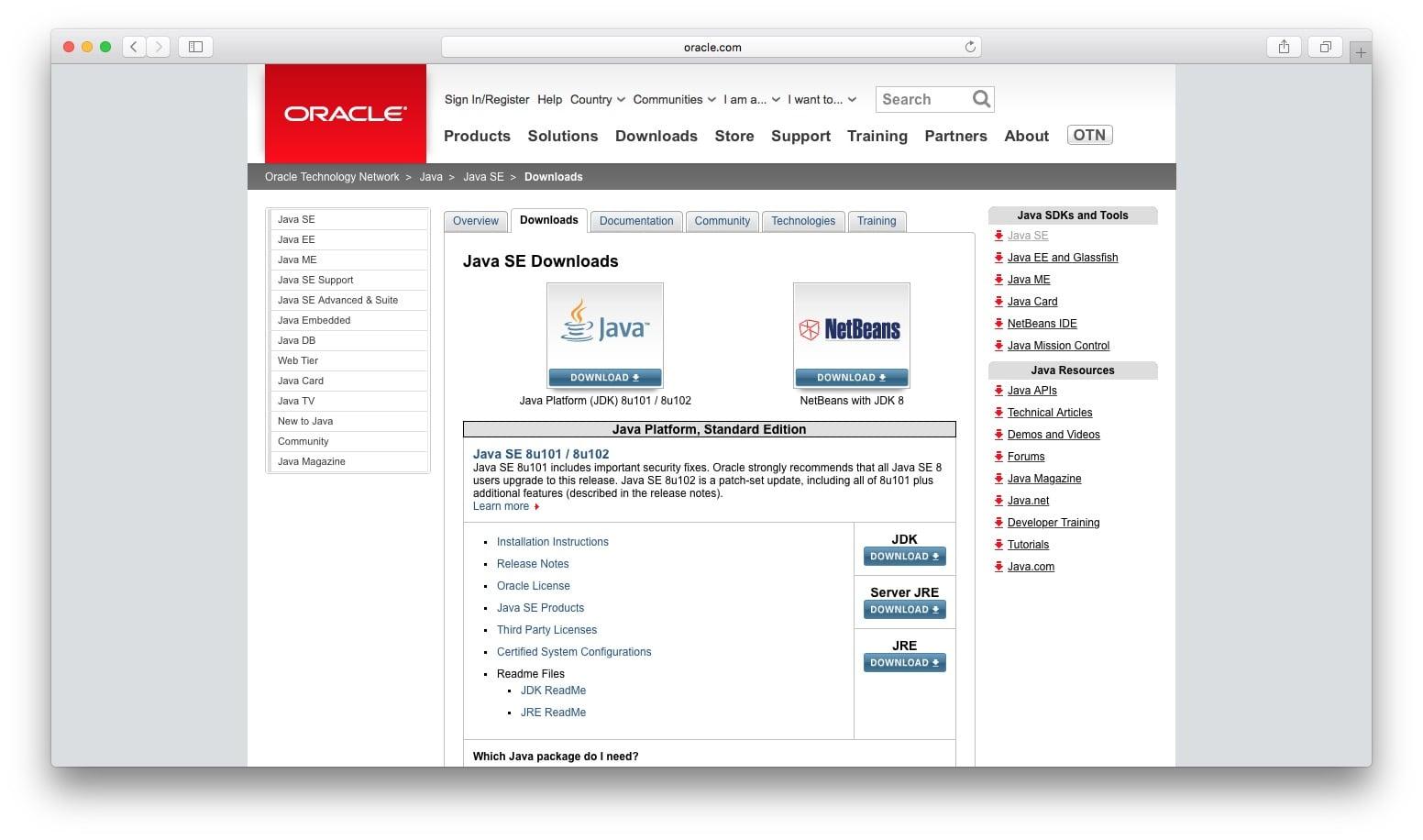 le fichier jre-8u65-macosx-x64.dmg