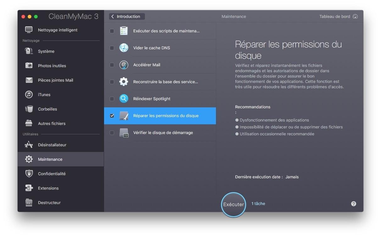 Reparer les permissions macOS Sierra en cas de probleme