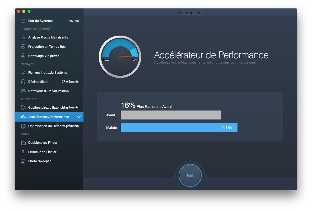 Reparer les permissions macOS Sierra macbooster 4