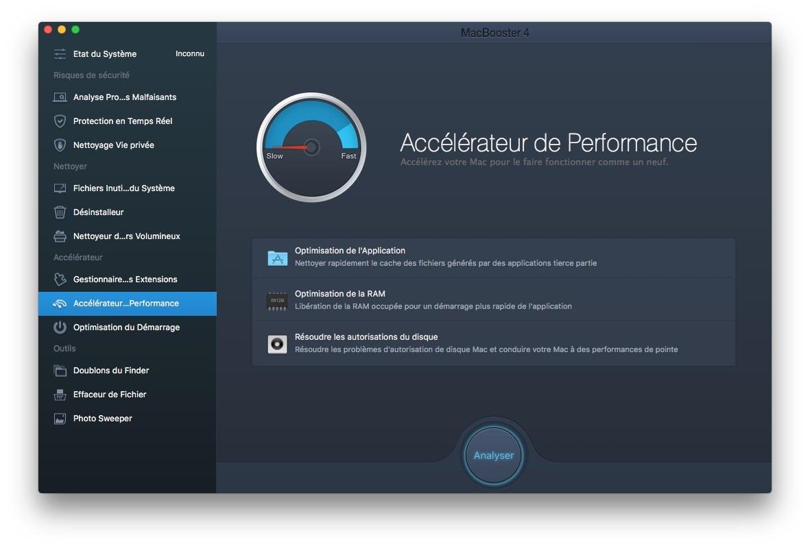 Reparer les permissions macOS Sierra macbooster accelerateur