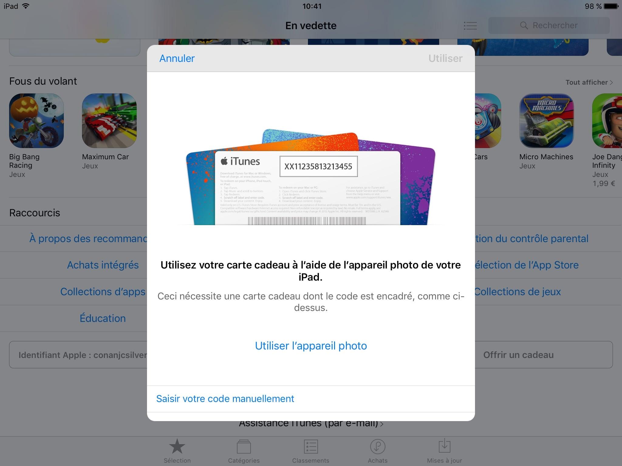 Carte Cadeau Apple.Carte Cadeau Apple Utilisation App Store Itunes Store Mac App