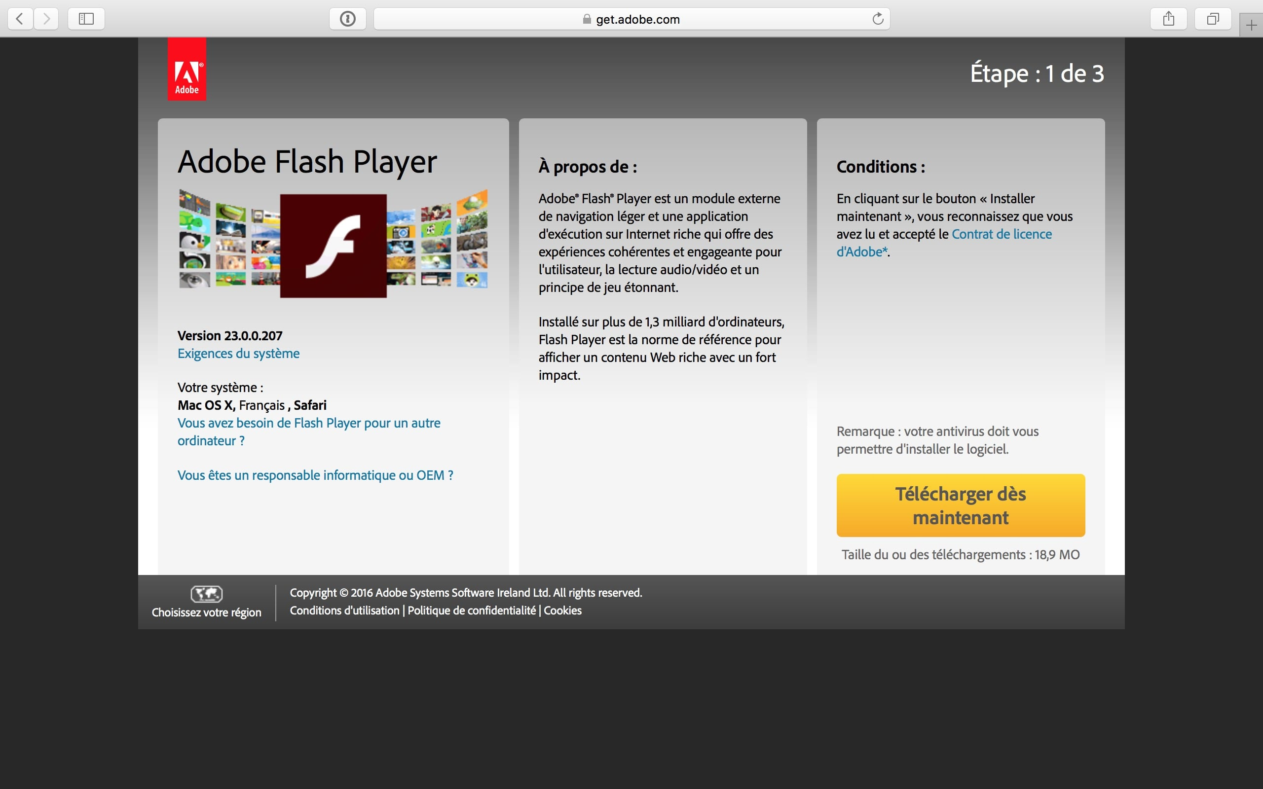 flash player mac désinstaller